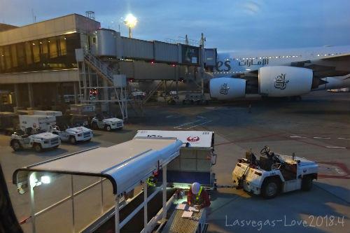 機内から 荷物