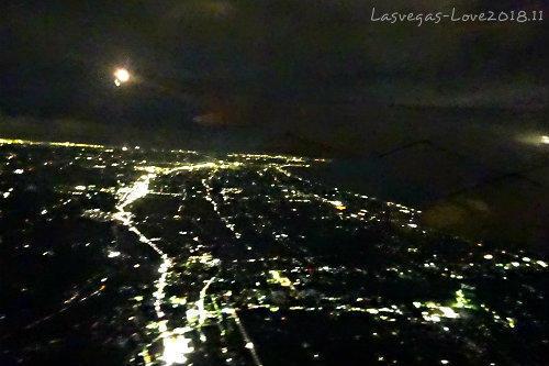 離陸 夜景 フライト