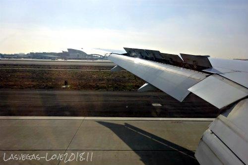 着陸 ロサンゼルス空港