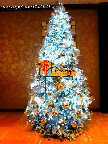 ラスベガス ミラージュ クリスマスツリー