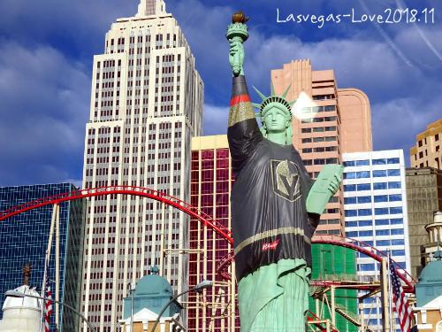 ラスベガス ニューヨークニューヨーク 自由の女神 ゴールデンナイツ