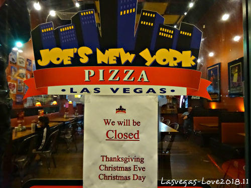 ピザ JOE'S NEW YORK  PIZZA Lasvegas