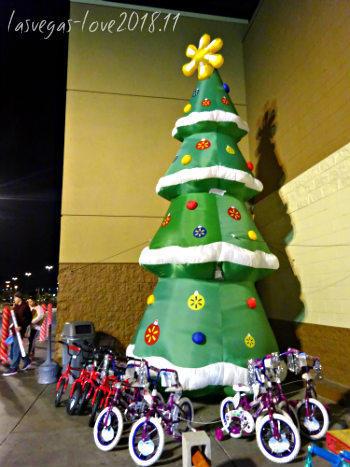クリスマスツリー 自転車