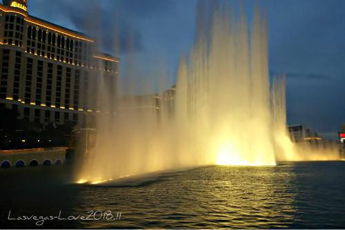 ラスベガス ベラージオ 噴水ショー