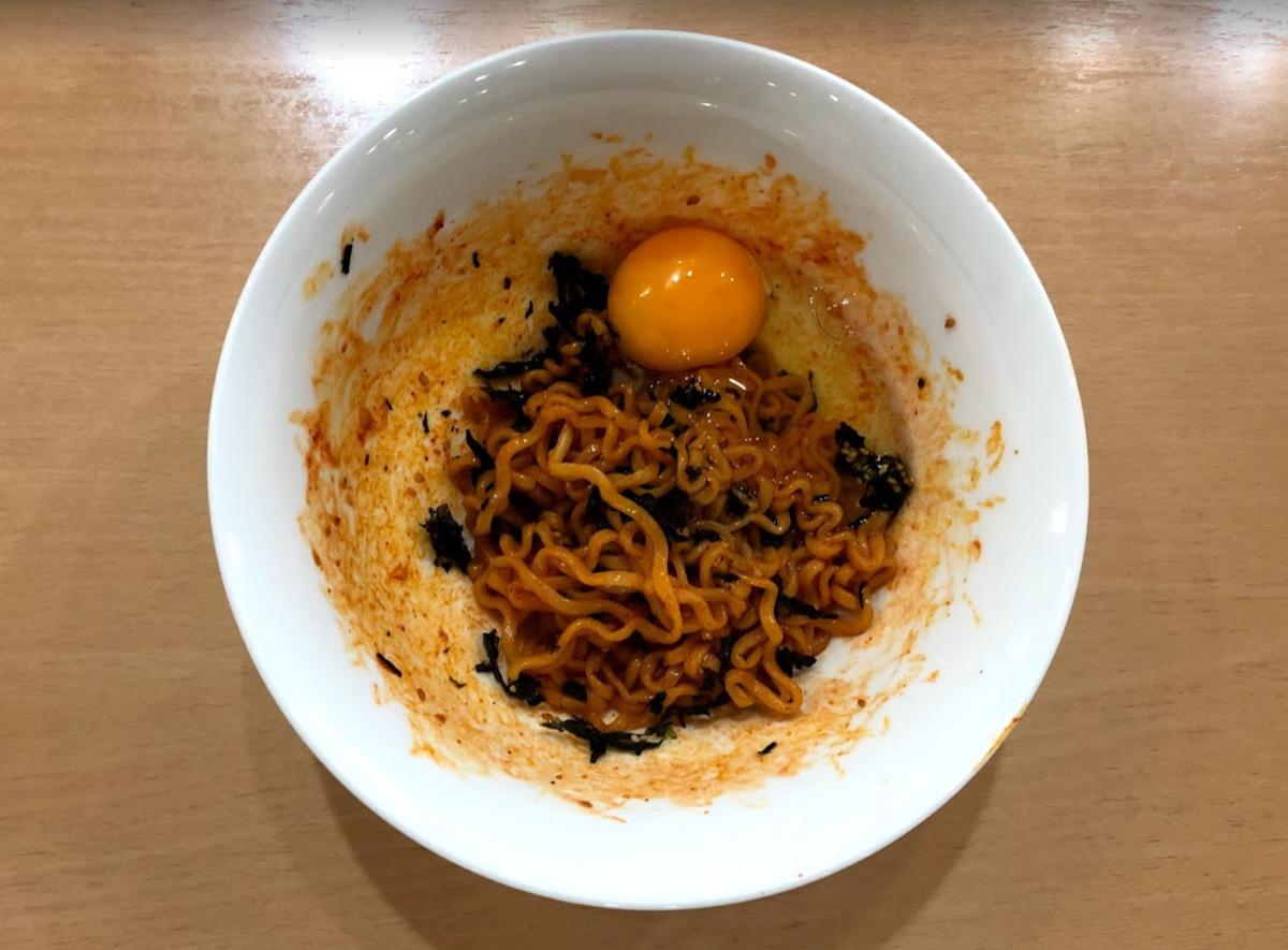 プルダックポックンミョン 卵 アレンジ