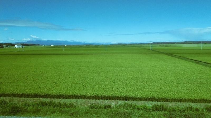東北本線の車窓