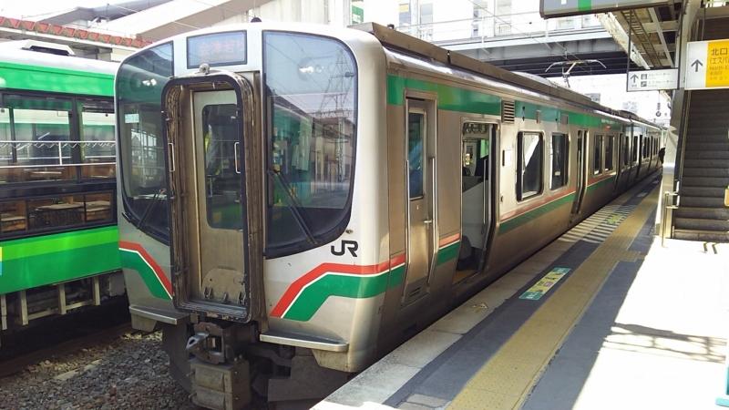 会津若松行きの磐越西線