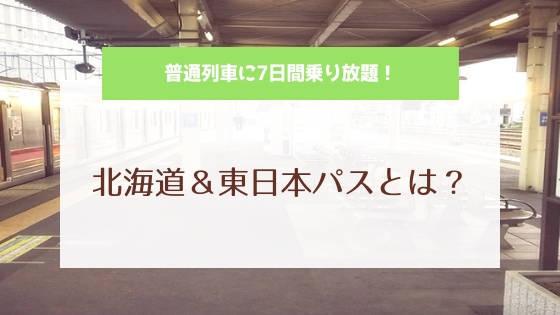 北海道&東日本パスとは?
