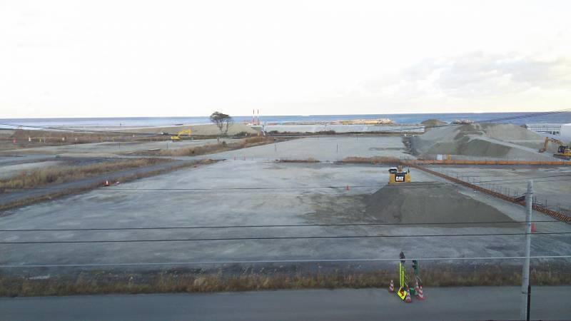 富岡駅から眺める太平洋