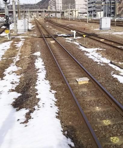 東北本線の線路