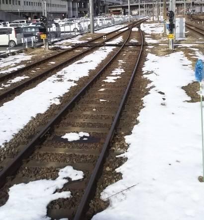 奥羽本線の線路