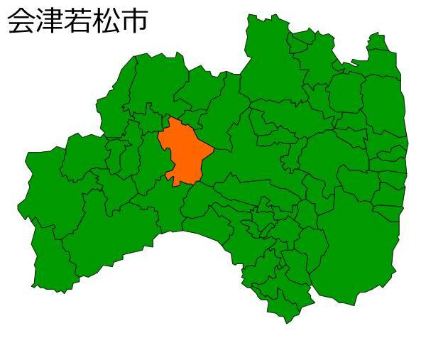 会津若松市の場所