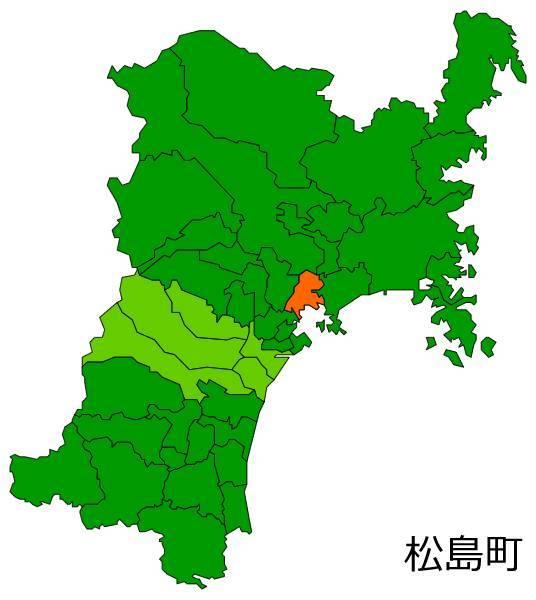 松島町の位置