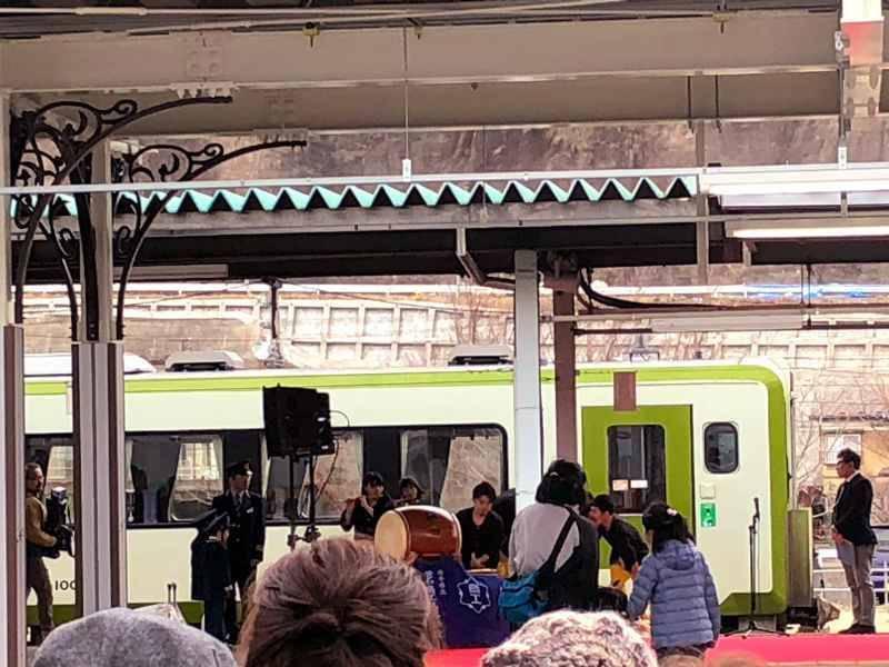 三陸鉄道リアス線開通記念の演舞