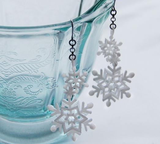 冬本番♡雪の結晶 ハンドメイドアクセサリー紹介① , Le・Bois