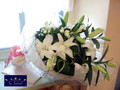 [花束][男性][名古屋市名東区一社][花屋][お誕生日]ユリの花束