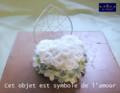 [プリザーブドフラワー][名古屋市名東区一社][花屋]リングピロー 結婚式 プリザーブドフラワーアレンジ