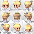 武家の紹介状 『小花の髪飾り付きのアップヘア』