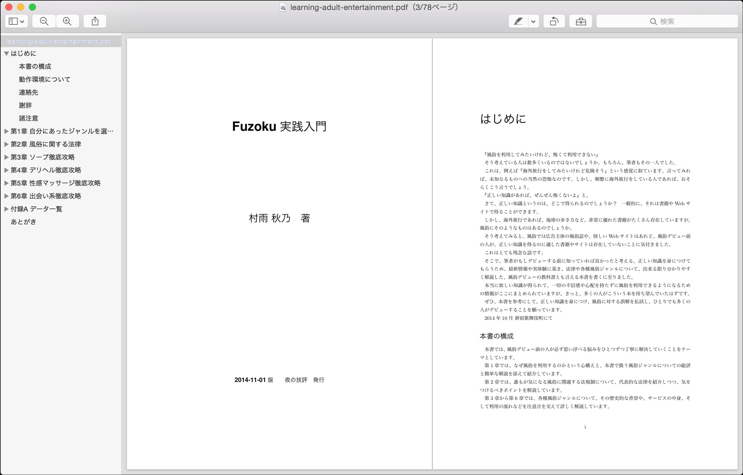 PDF版のFuzoku実践入門プレビュー