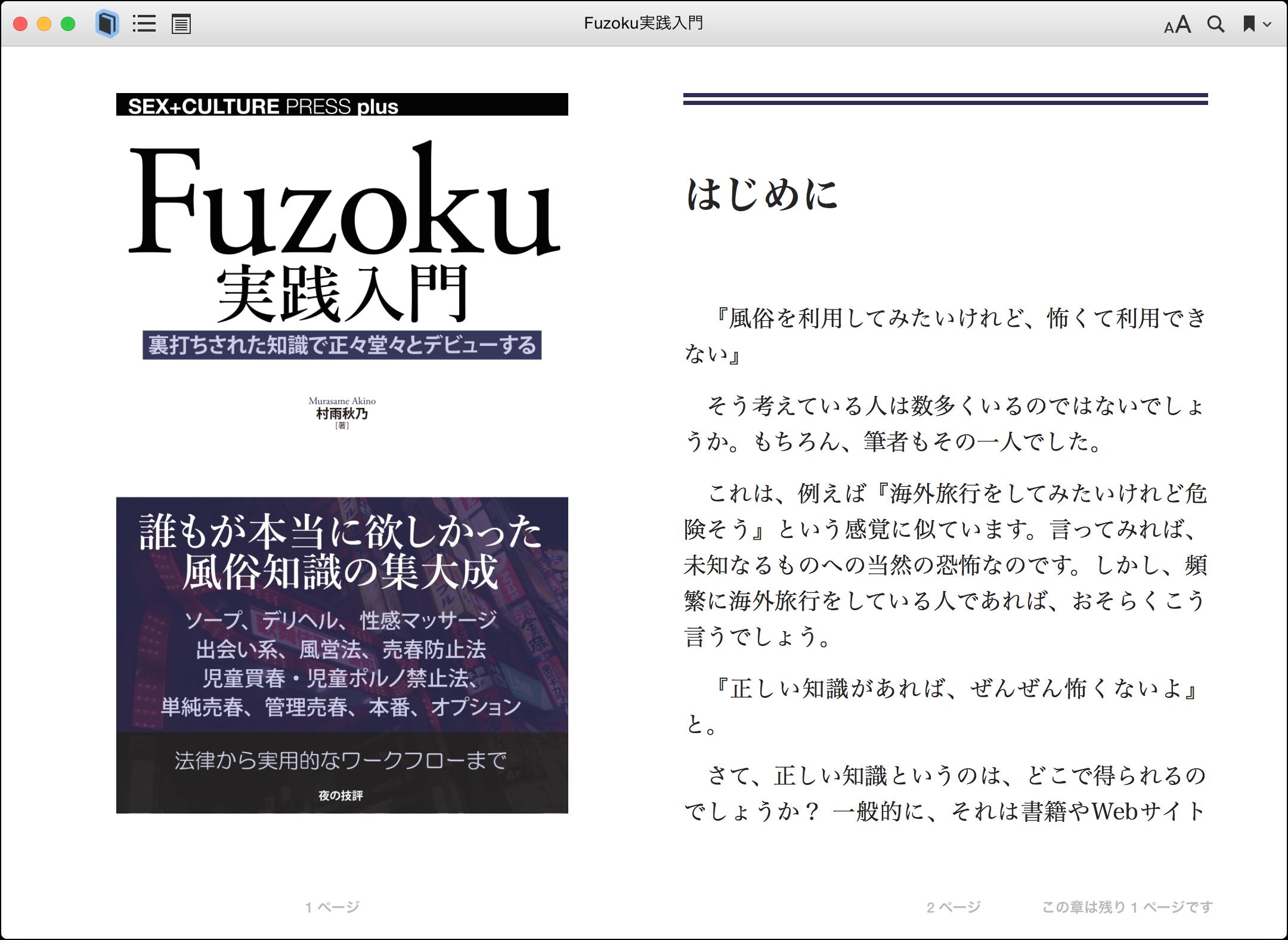 EPUB版のFuzoku実践入門プレビュー