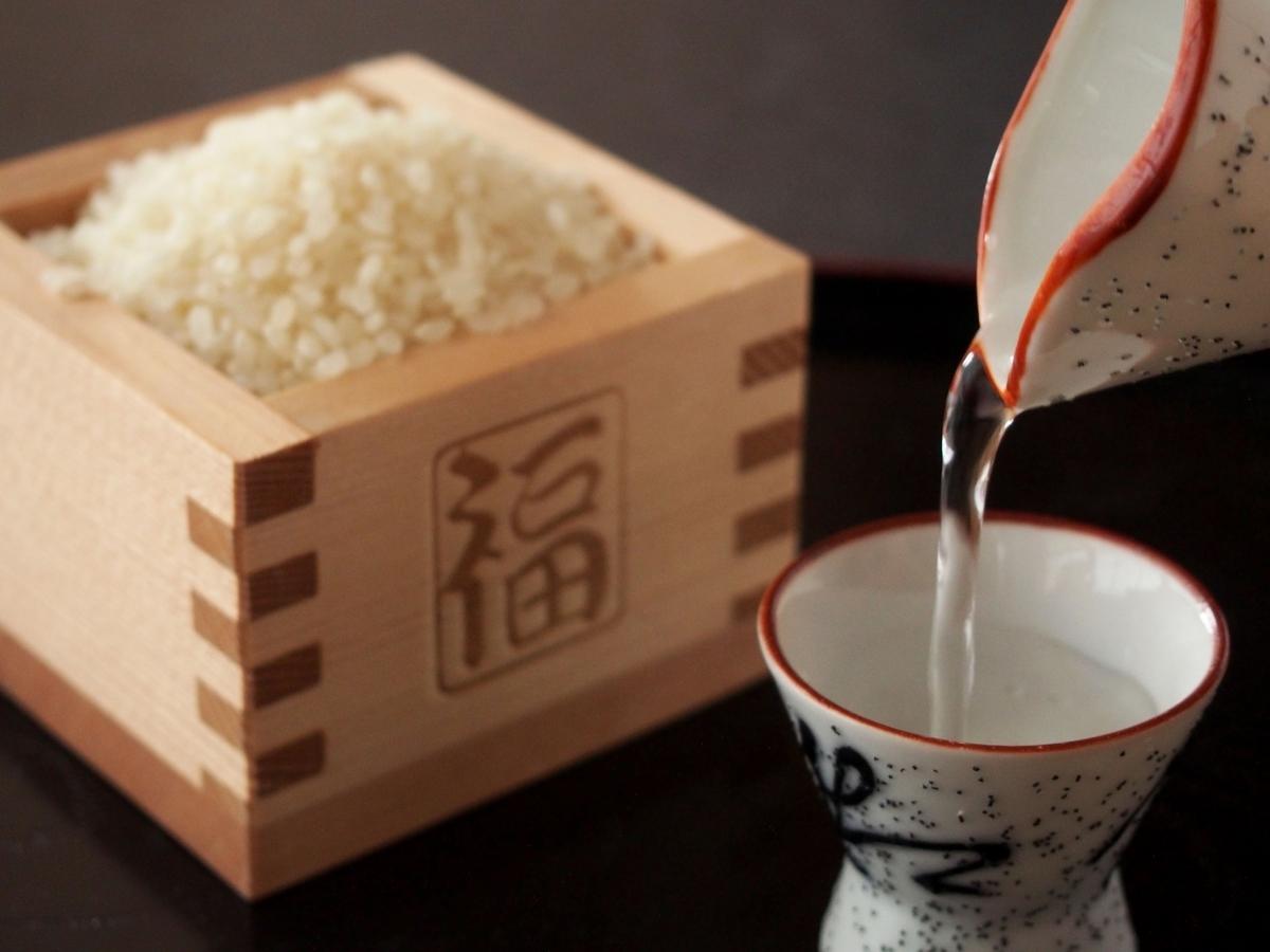 日本酒は米から作られます