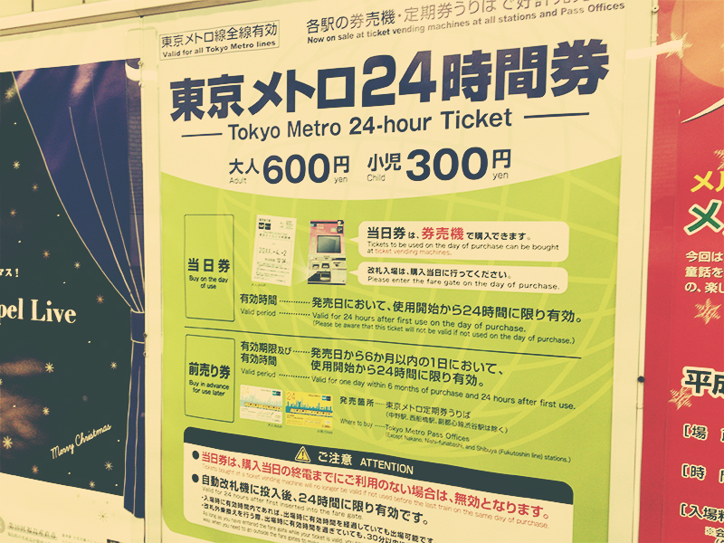 東京メトロ24時間券のポスター