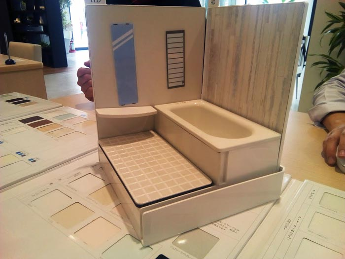 バスルーム模型:TOTO
