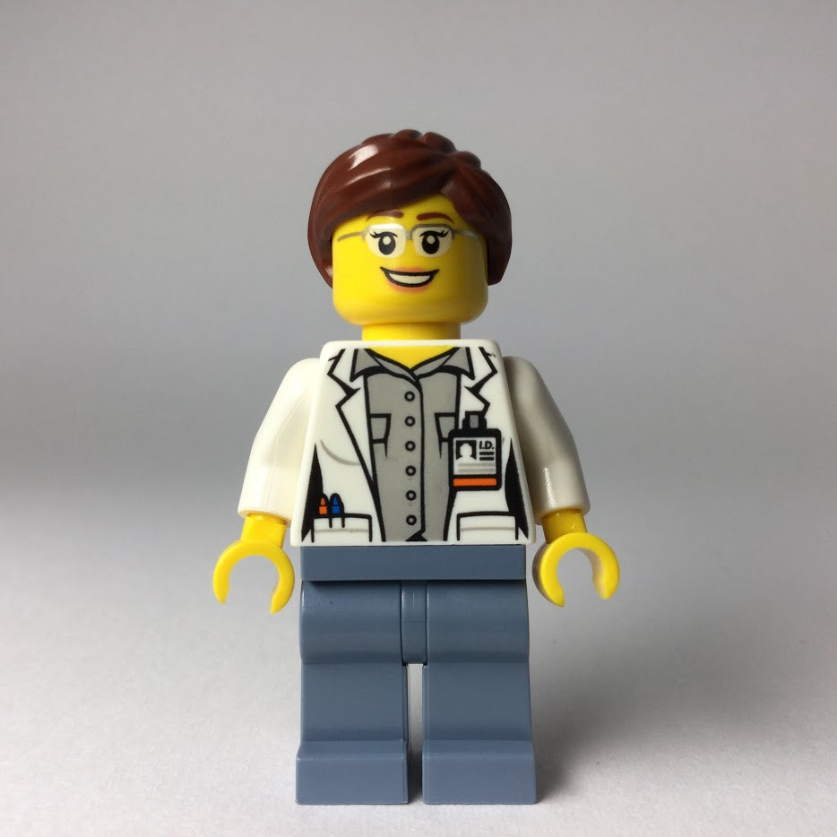 レゴ ミニフィギュア シティ火山調査 科学者