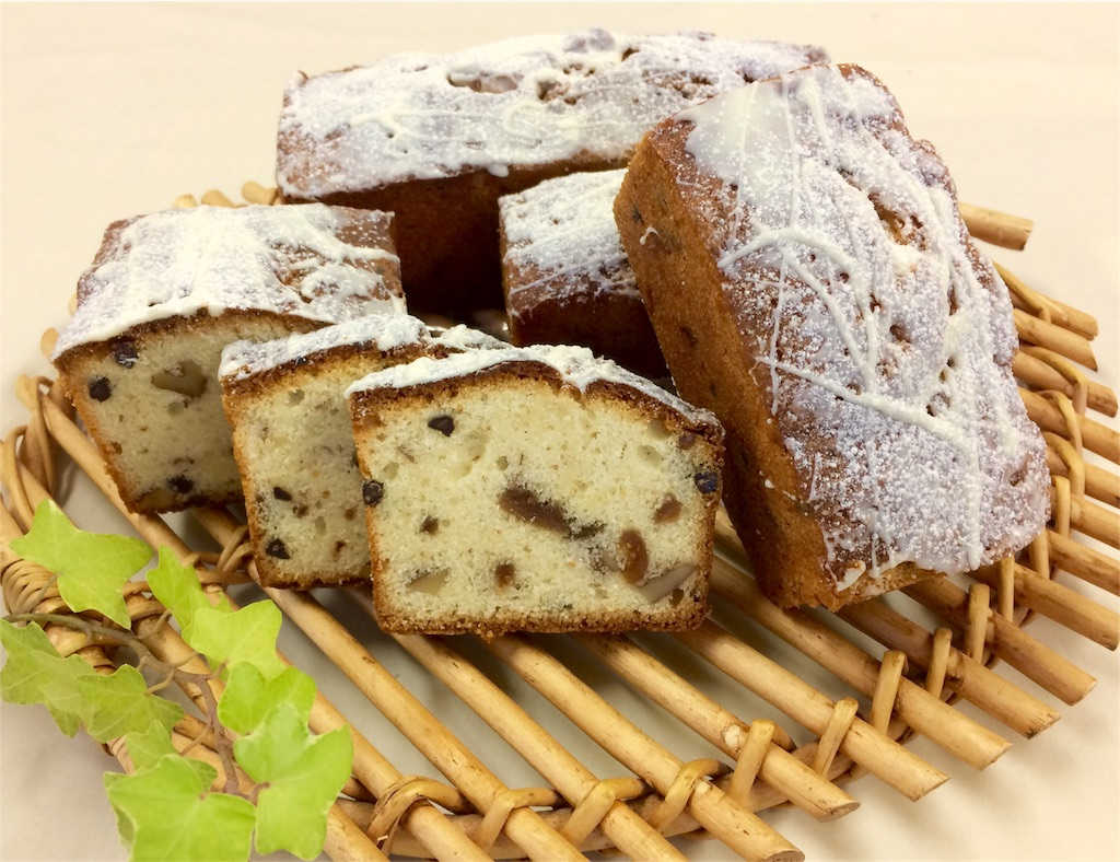胡桃と無花果のバターケーキ