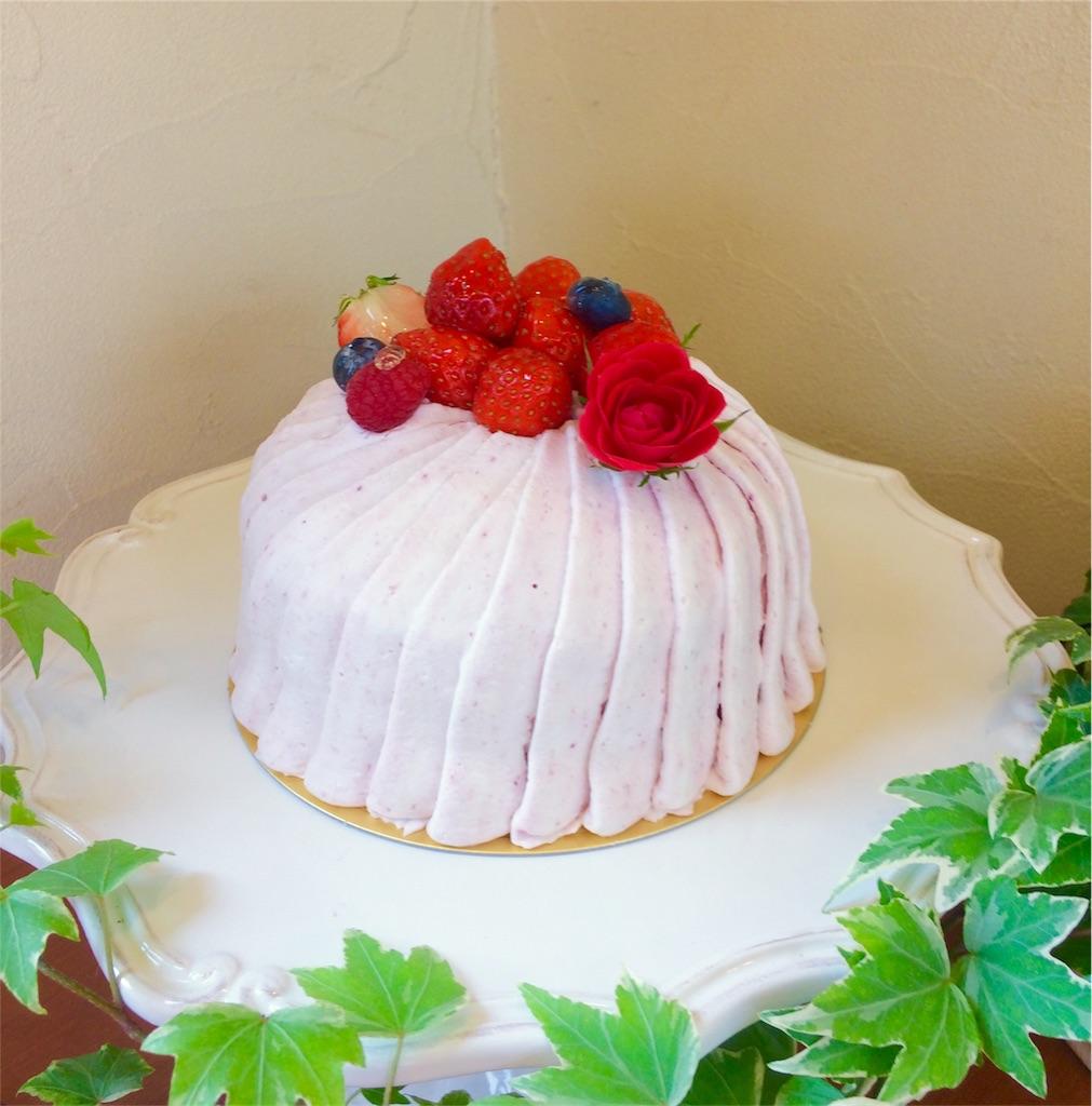 母の日のデコレーションケーキ