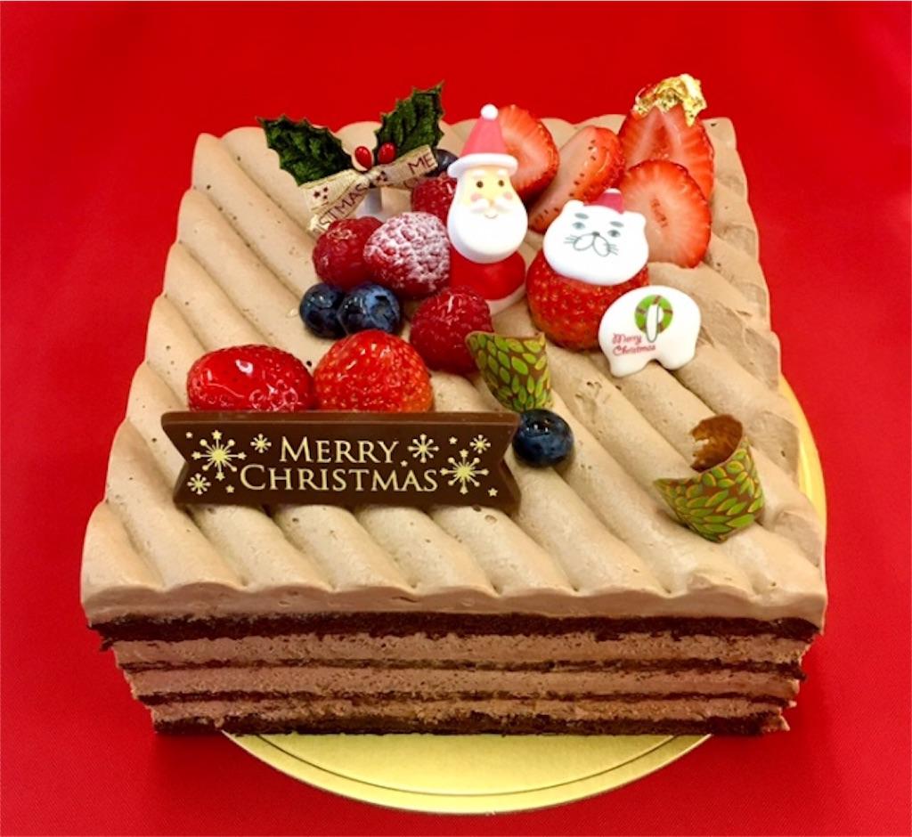 チョコレートのx'masデコレーションケーキ