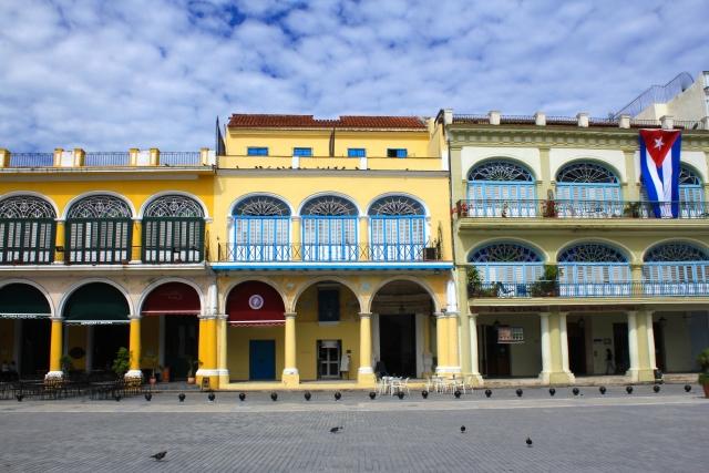 キューバのハバナ旧市街
