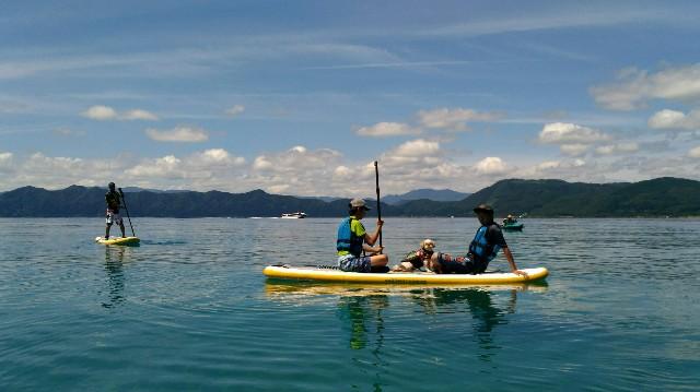 田沢湖でSUP