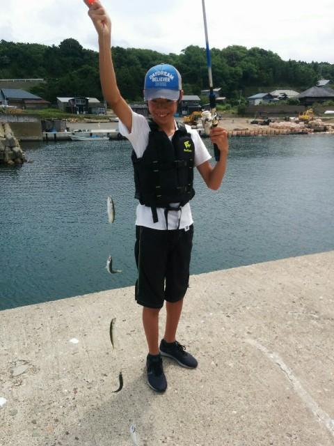 日本海で釣り