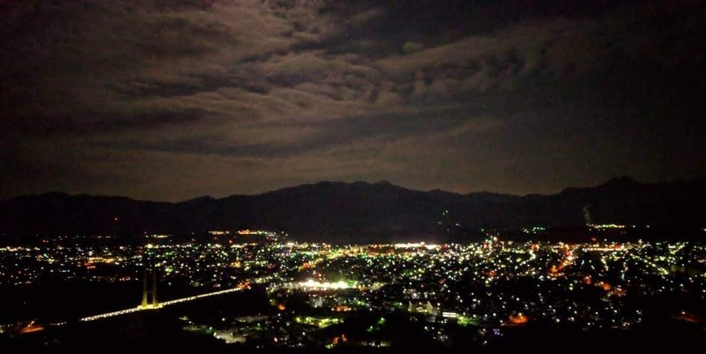 秩父ミューズパークの夜景