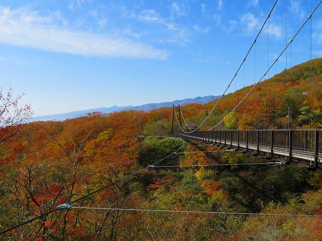 那須のつつじ吊橋の紅葉