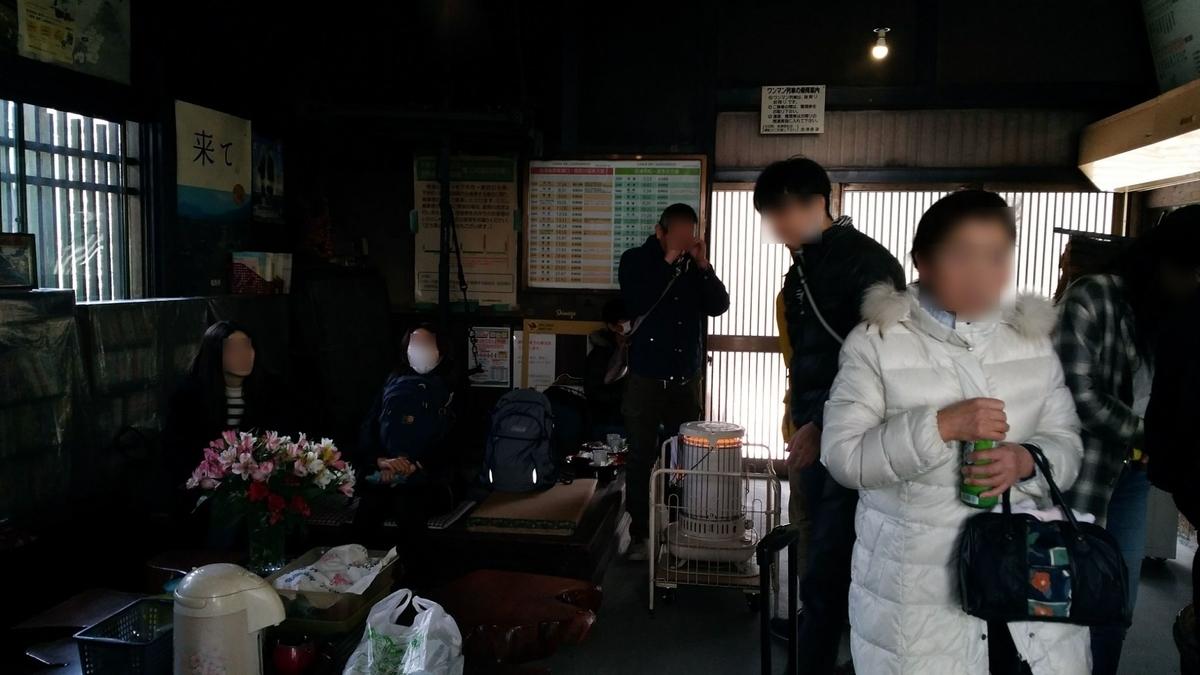 湯野上温泉駅の待合室