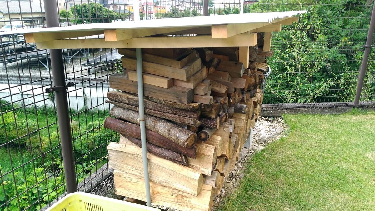 薪棚 手作り