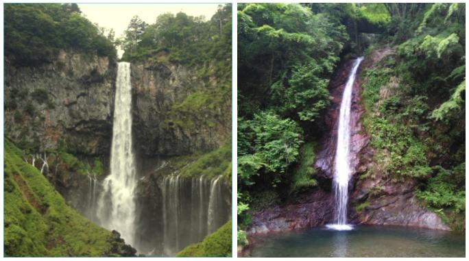日光華厳の滝 秩父華厳の滝 比較