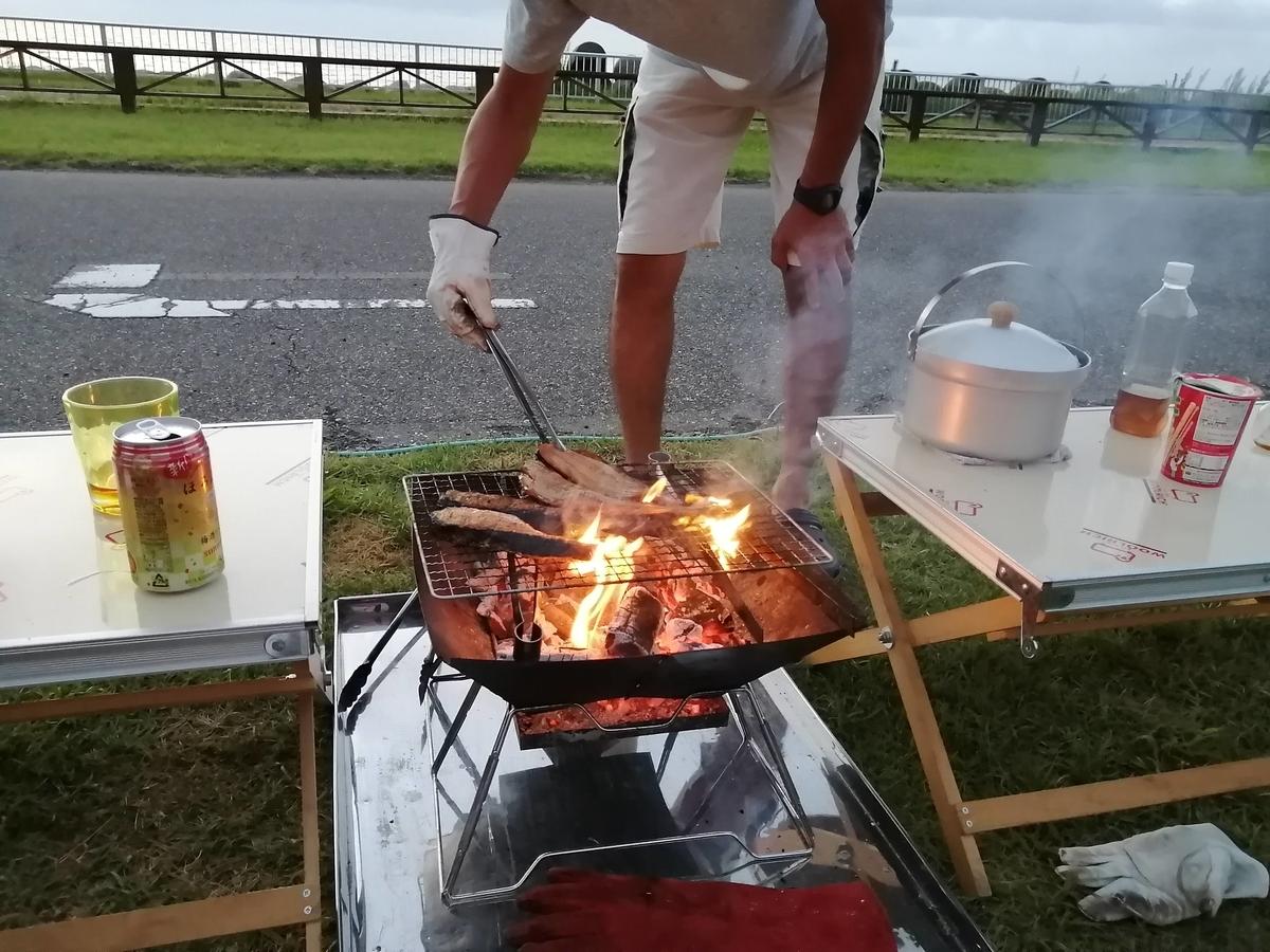 紫雲寺記念公園オートキャンプ場 BBQ