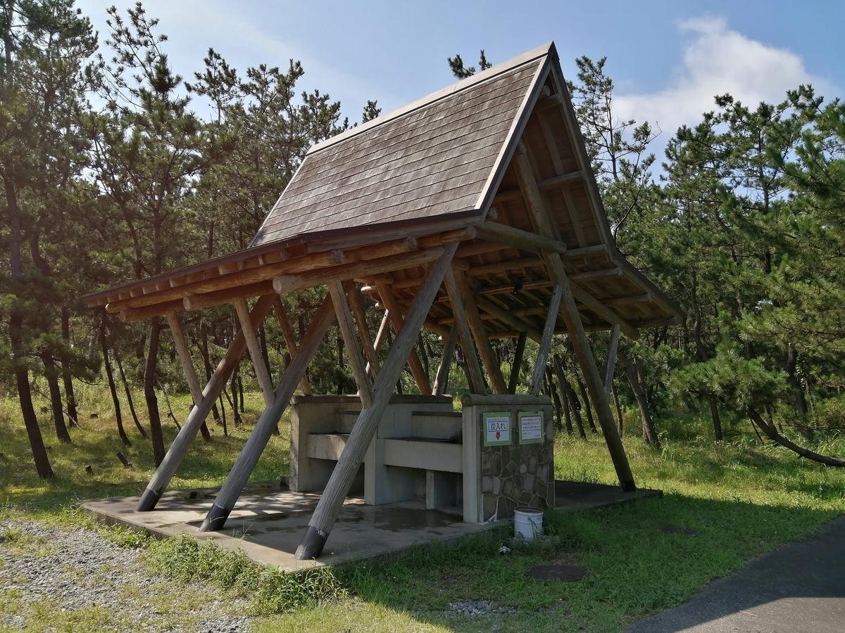 紫雲寺記念公園オートキャンプ場 炊事場