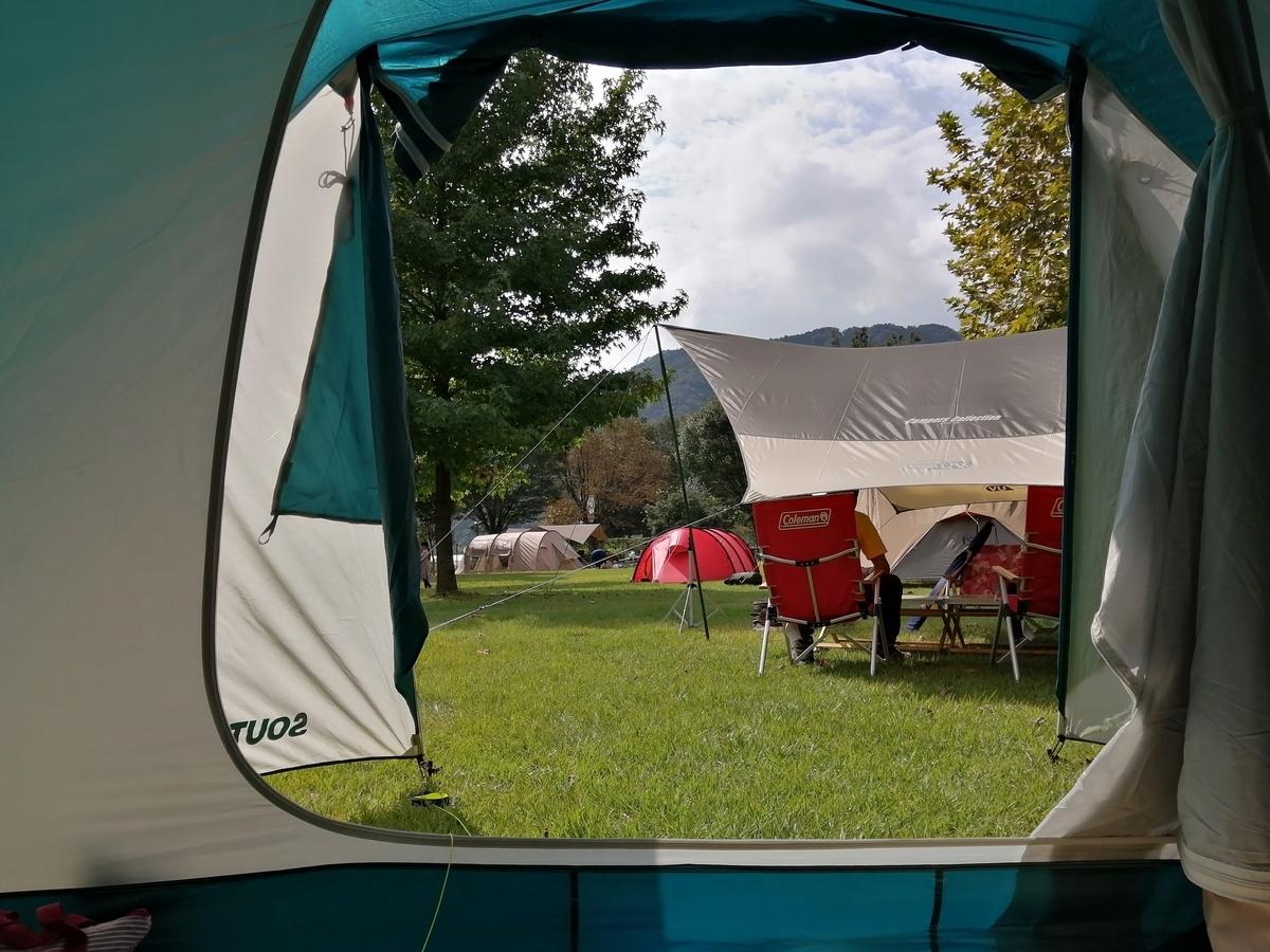 キャンプ テント ロケーション