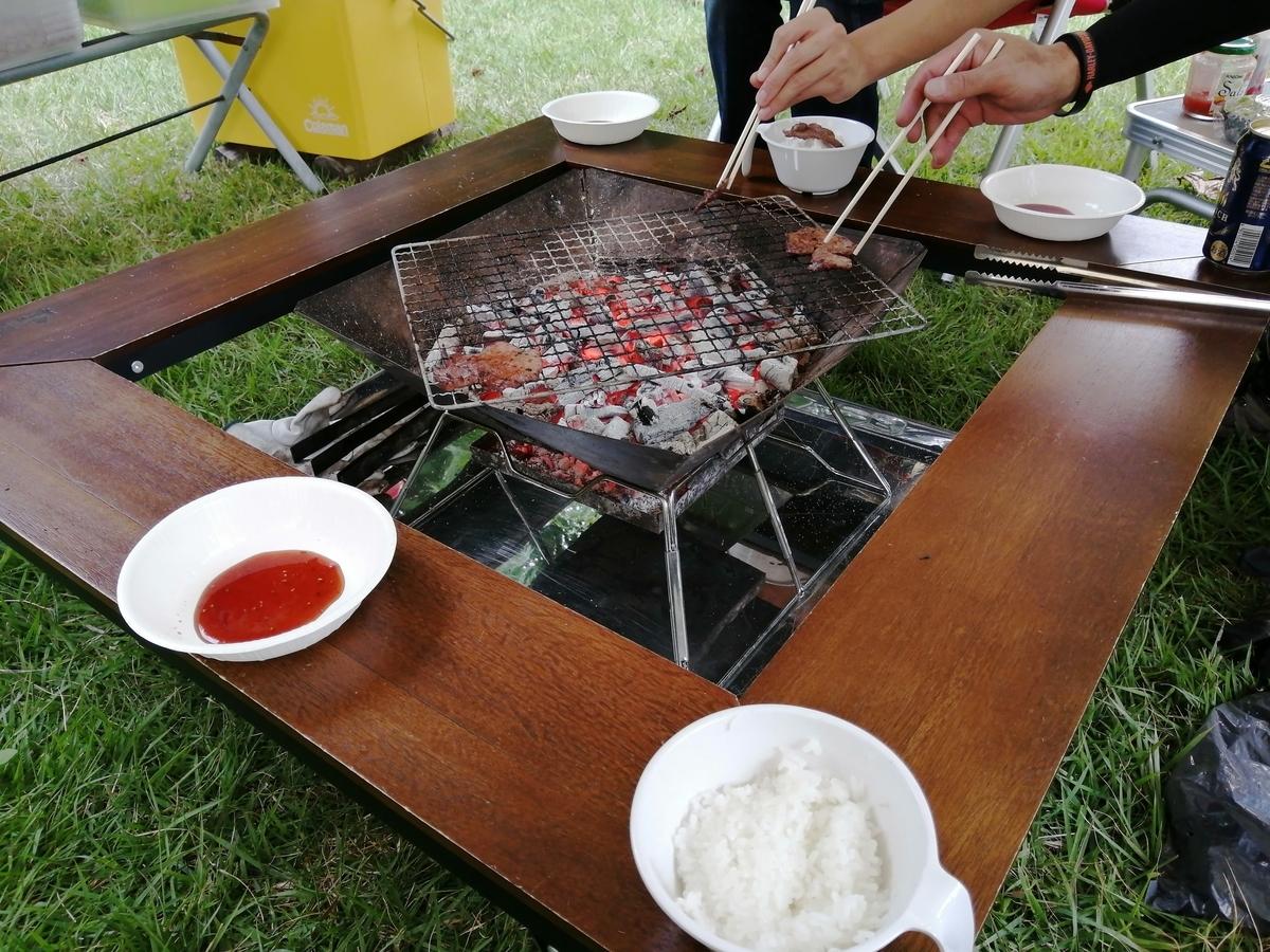 ロゴス 囲炉裏テーブル BBQ