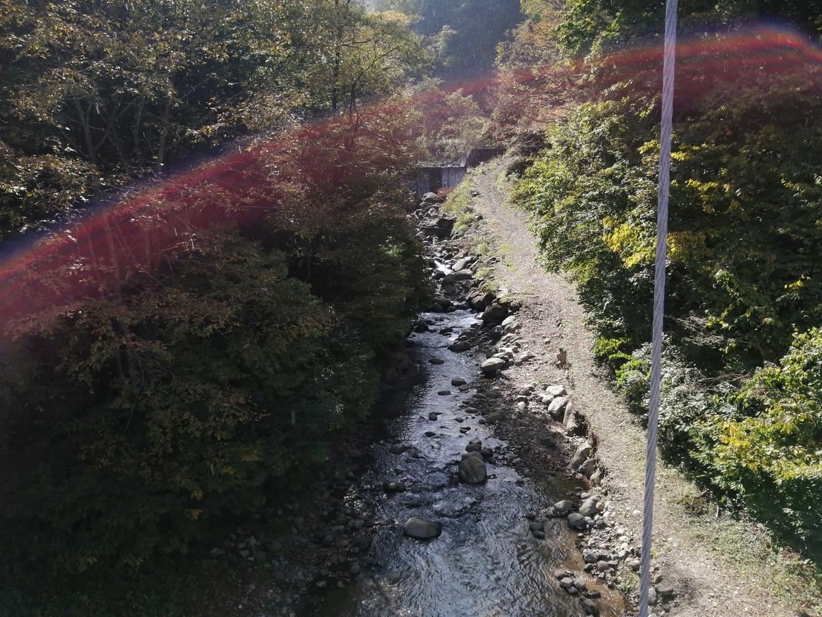 土湯温泉 滝のつり橋
