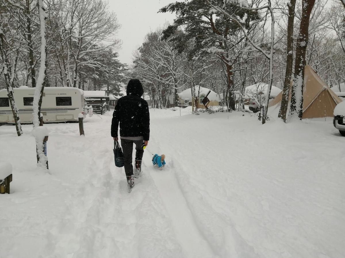エンゼルフォレスト那須白河 キャンピングトレーラー 雪中キャンプ 大寒波