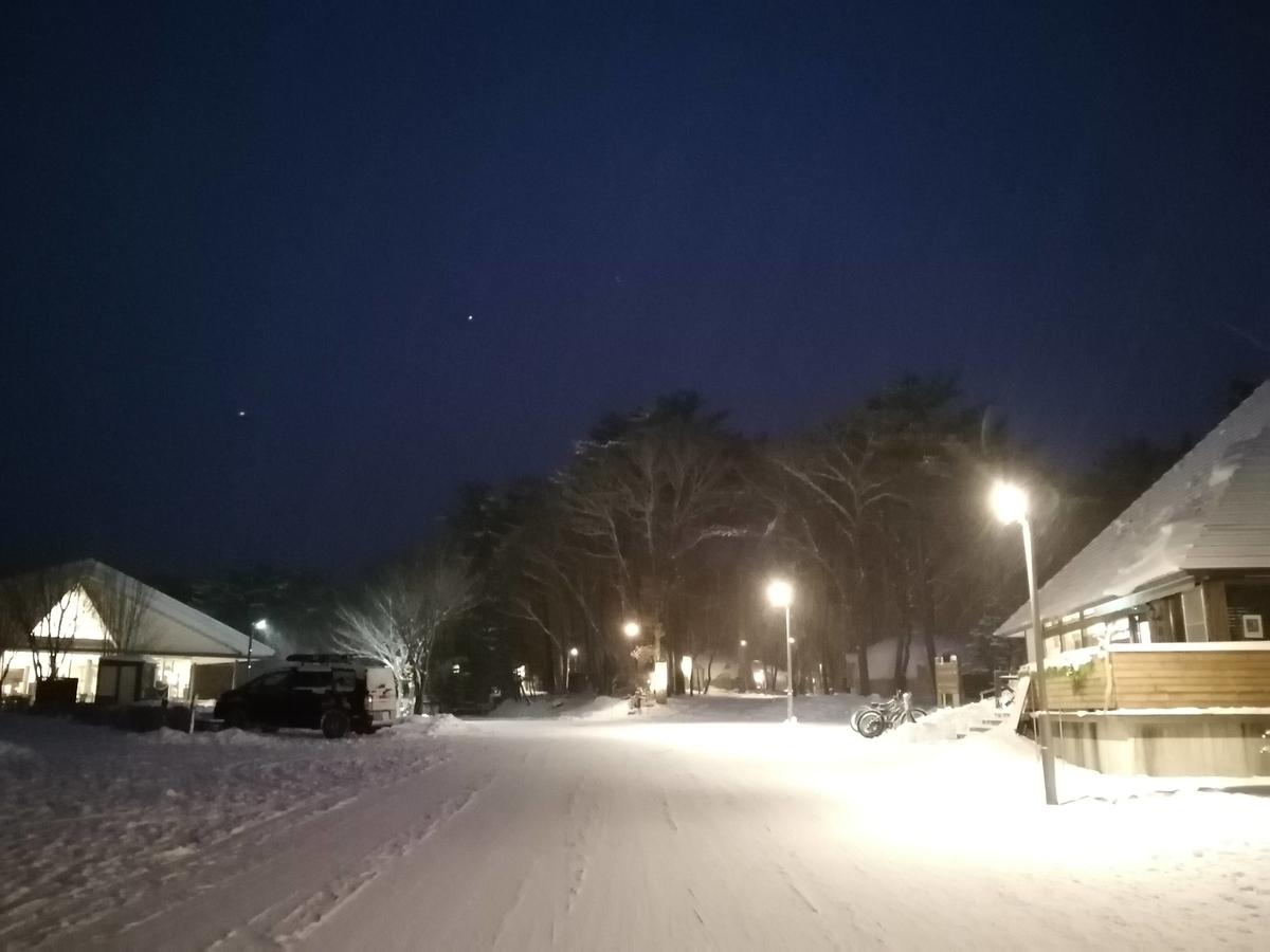 エンゼルフォレスト那須白河 雪中キャンプ 夜の灯り