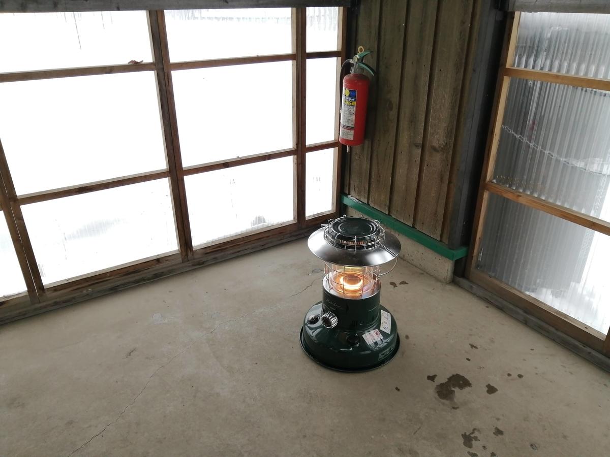 エンゼルフォレスト那須白河 キャンピングトレーラー 雪中キャンプ 炊事場 暖房