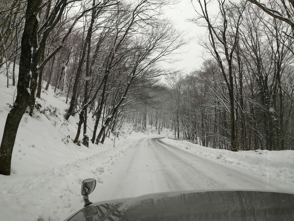 エンゼルフォレスト那須白河 キャンピングトレーラー 雪中キャンプ 雪道