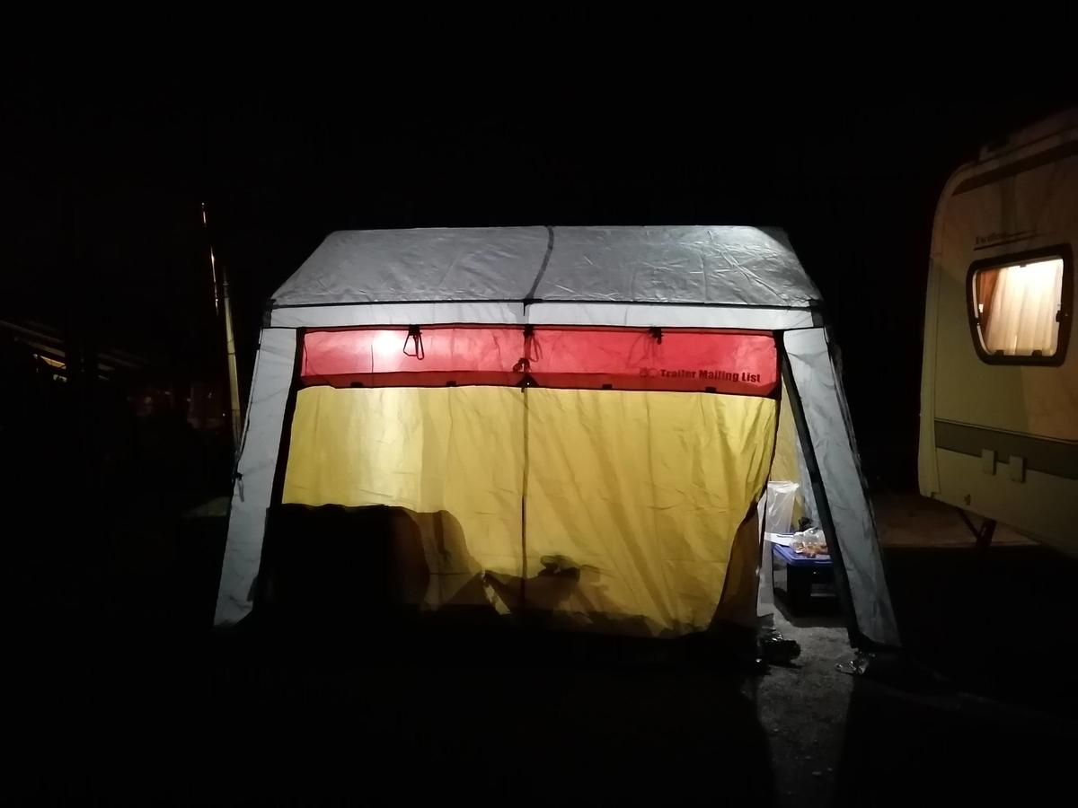 キャンプ&キャビンズ那須高原 薪ストーブ スクリーンタープ