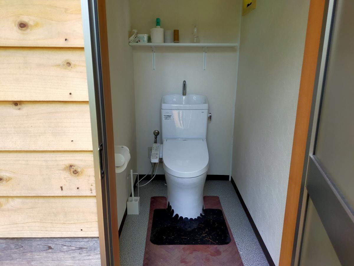 白馬塩の道温泉 倉下の湯 くるま旅クラブ くるま旅パーク キャンピングトレーラー 車中泊 旅犬 トイレ